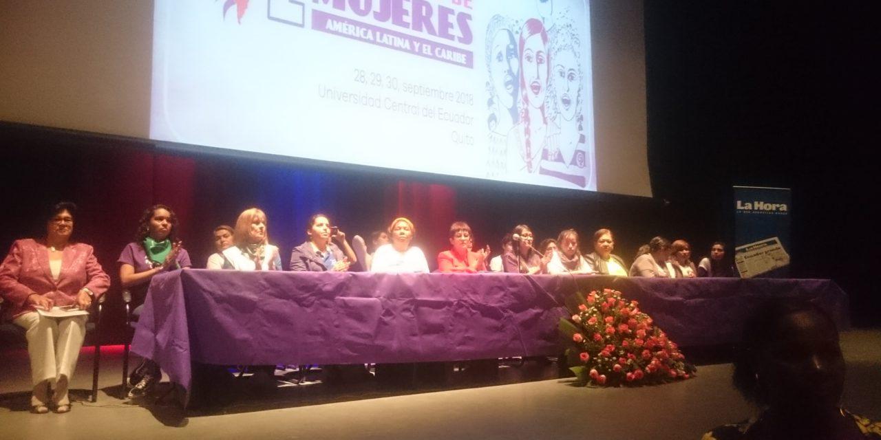 Arrancó Segundo Encuentro de Mujeres de América Latina y el Caribe.