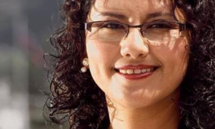 Natasha Rojas, candidata a la Alcaldía de Quito.