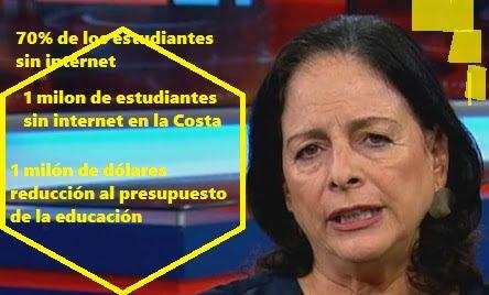 Exigen salida de Ministra de Educación,  Monserrat Creamer