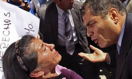 Rafael Correa, fanático cadáver político.