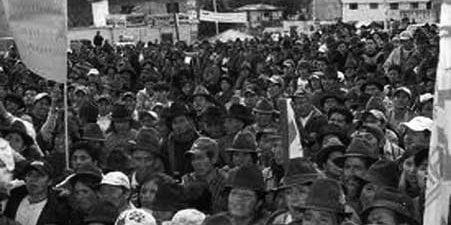 El gran paro de Chimborazo en octubre de 1976.