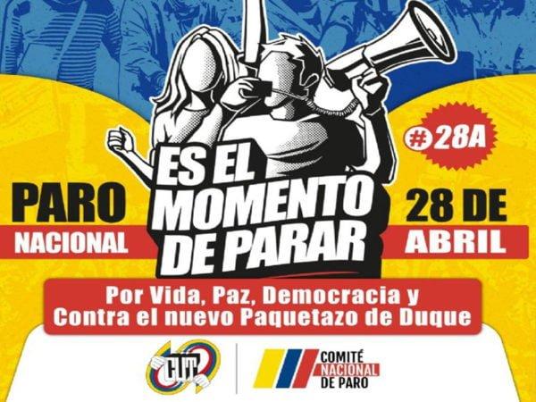 Paro nacional en Colombia 28 de abril