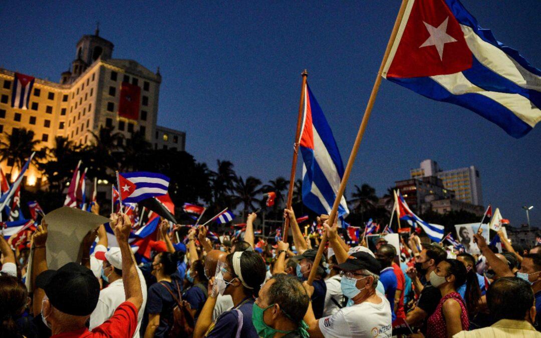 Rechazamos el bloqueo econmómico y la injerencia imperialista en Cuba, respaldamos el derecho del pueblo a su autodeterminación