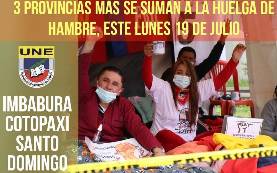 Una semana de huelga de hambre en defensa de la educación y se suman tres provincias.